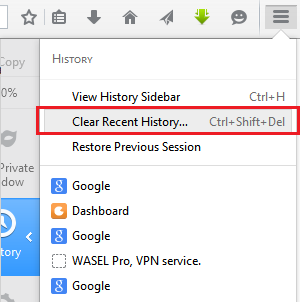 how to delete browsing data